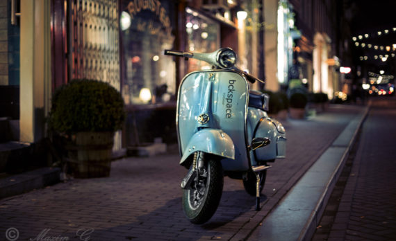 #Vespa #scooter #Amsterdam #canon #nightphotography #art