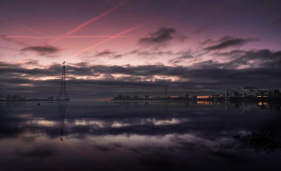 #Ijburg #Amsterdam #sunrise #purple #canon #longexposure #bridges