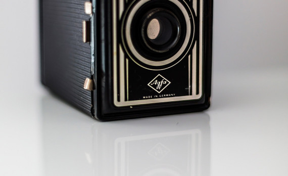 old camera, box camera, reflection, agfa, canon