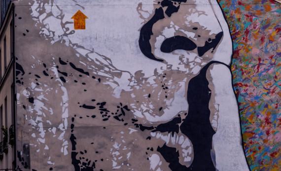 Salvador Dali, Paris, wallpainting, finger, canon