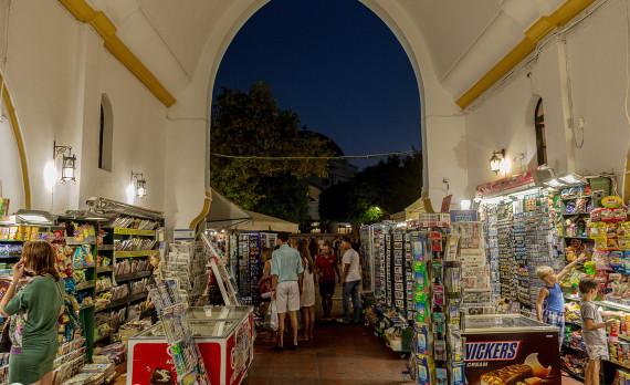 Old Bazar, rhodes, old town, ottomans, knights, shop, tourists, canon