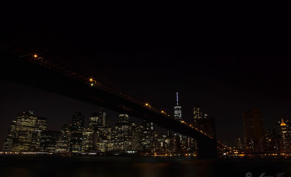nightphotography, brooklynbridge, skyscrapers, citylights, longexposure, east river, canon