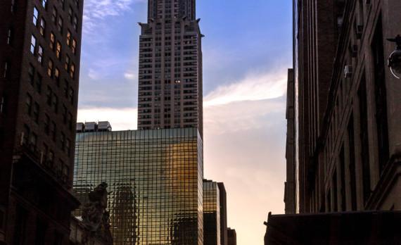 chryslerbuilding, sunrise, street, canon