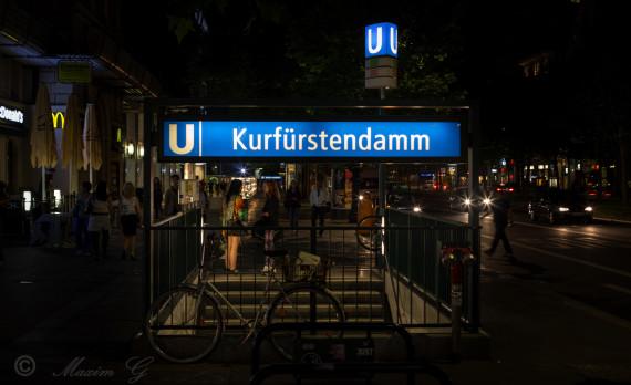 berlin,ku damm, kurfürstendamm, germany, nightphotography ,u Bahn ,canon