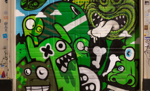 #green #graffitti #garage_door #canon #jordaan #amsterdam