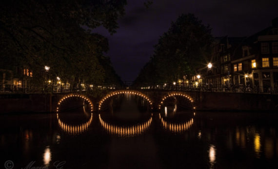 #longexposure #bridge #nightphotography #amsterdam #canals #canon
