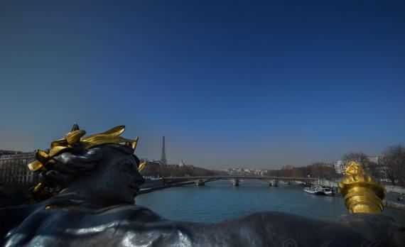 Seine, statue, eiffel tower, bridge, canon