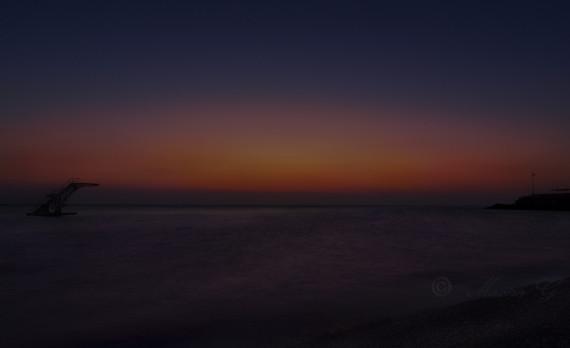 Sea, divingboard, sunrise, longexposure, canon