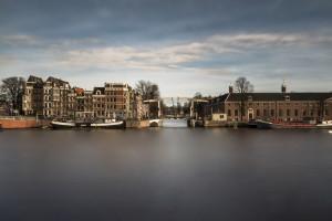 Amstel, Hermitage, canon, Amsterdam, river