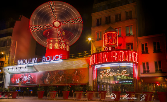 #Moulin Rouge #canon #nightphotography #Paris #pictures for sale