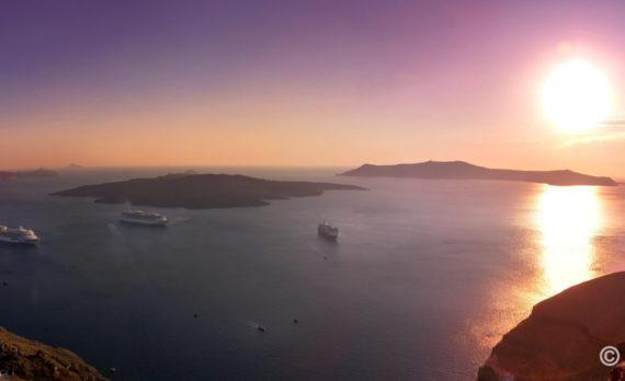 #Greece #santorini #Fira #panorama #canon #sunset