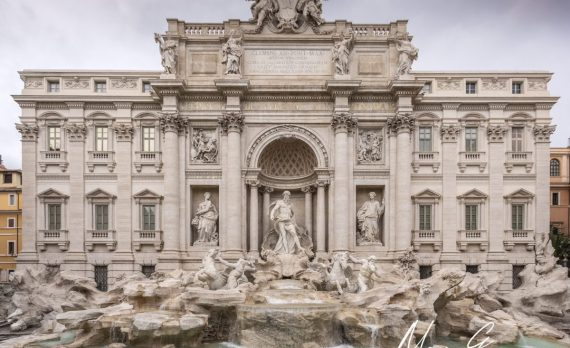 Trevi _fountain, Rome, Roma, Italy, Architecture